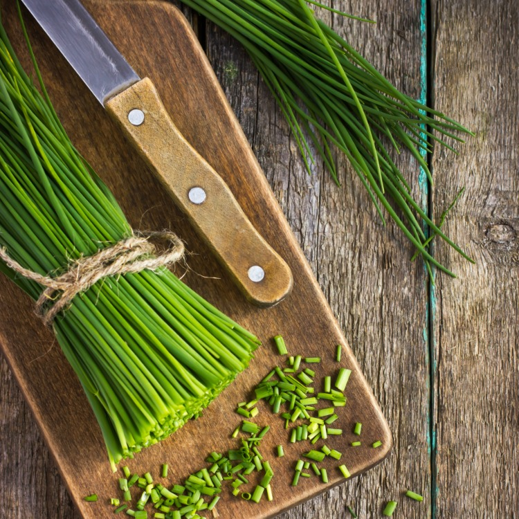 Chives on Cutting Board from WOS