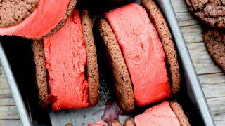 Red Velvet Ice Cream Sandwiches