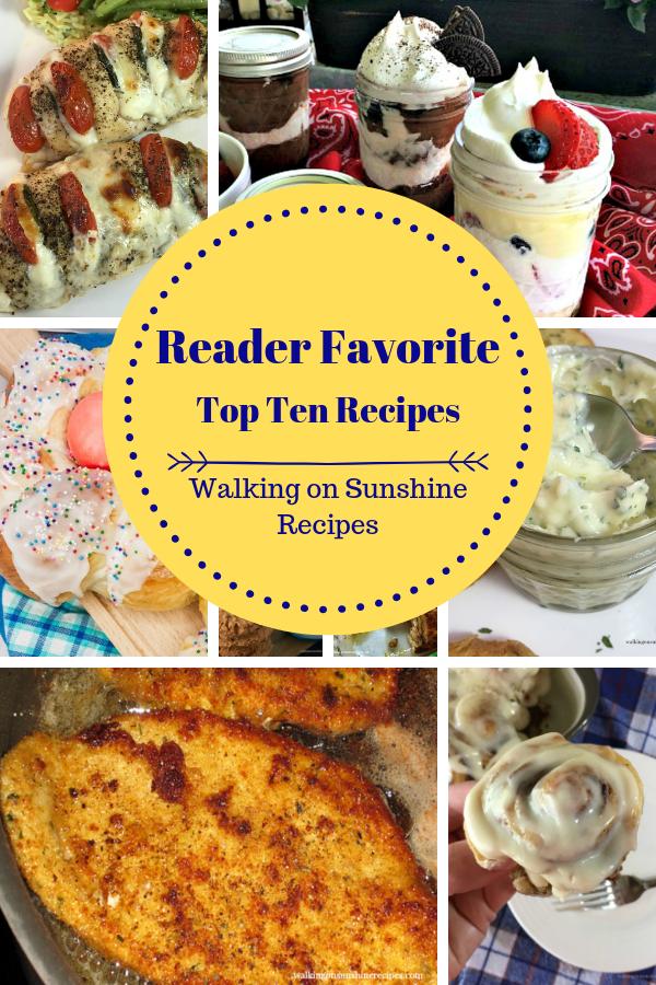Reader Favorite Top Ten Recipes