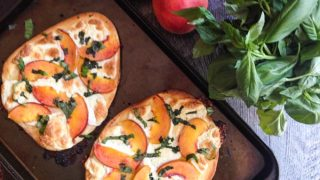 Peach & Basil Flatbread