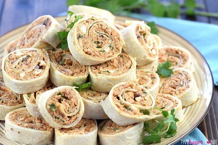 BBQ Chicken Tortilla Pinwheels