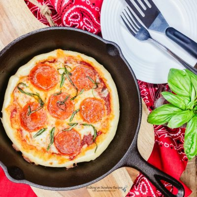 Cast Iron Pan Pizza