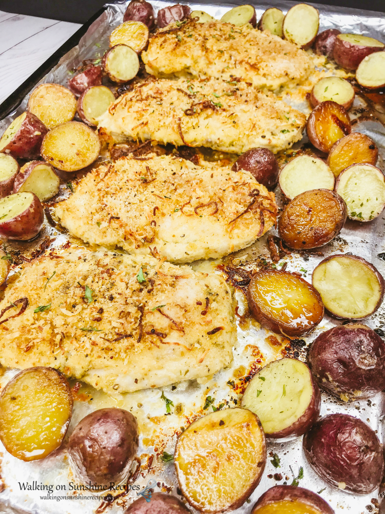 Chicken and Red Potatoes Sheet Pan Recipe