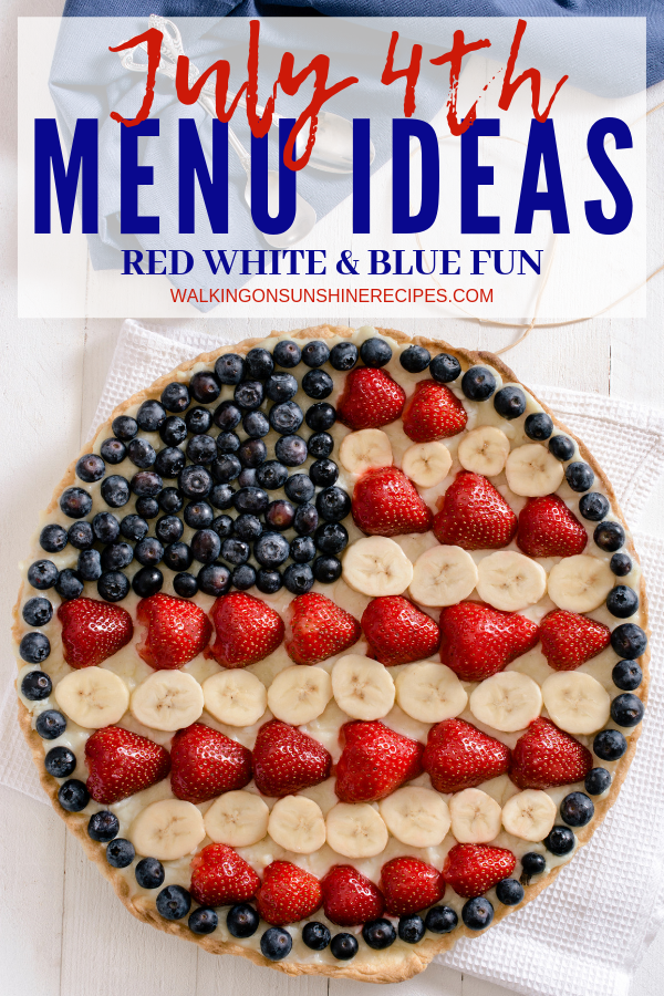 Traditional 4th of July Foods Menu, Ideas and Recipes.