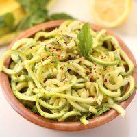 Lemon Herb Zucchini Noodle Salad