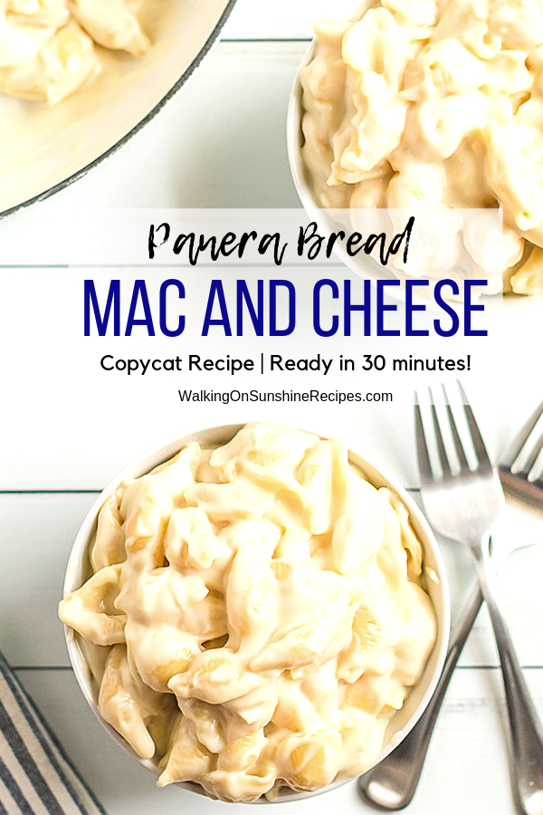 Panera Mac and Cheese Copycat Recipe in bowls with forks