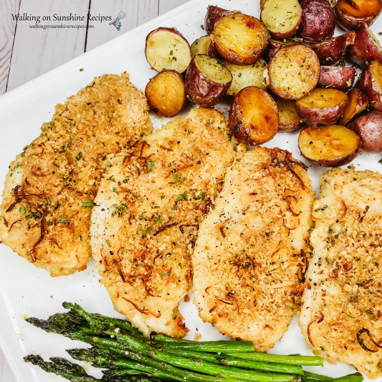 Sheet Pan Chicken and Potatoes with Roasted Asparagus