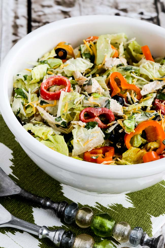 Low-Carb Southwest Chicken Salad with Chipotle Ranch Dressing