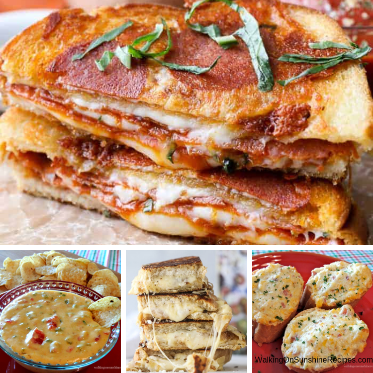 Pizza Grilled Cheese, Queso Dip, Cheese Sandwiches