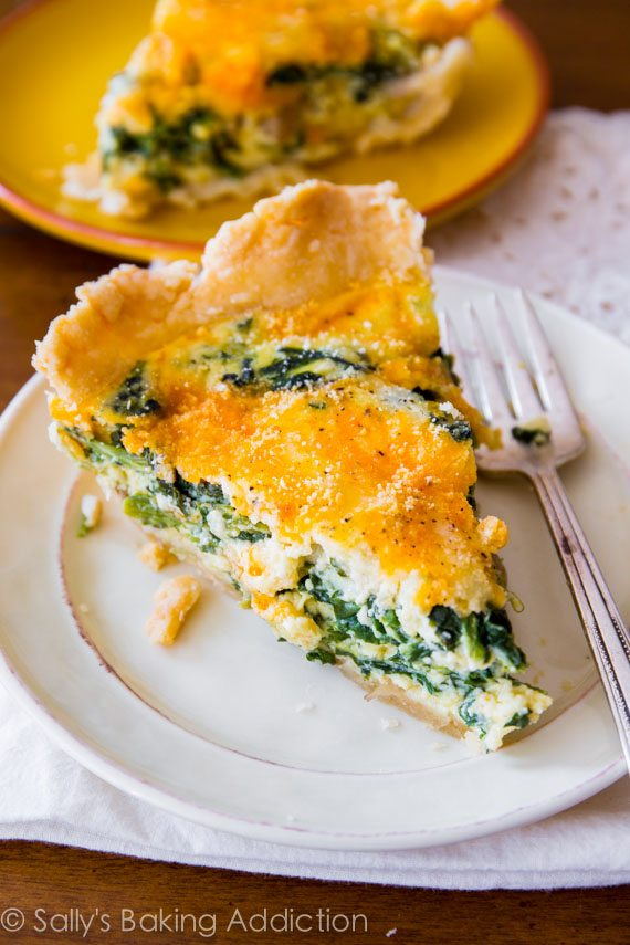 Cheesy Spinach Quiche