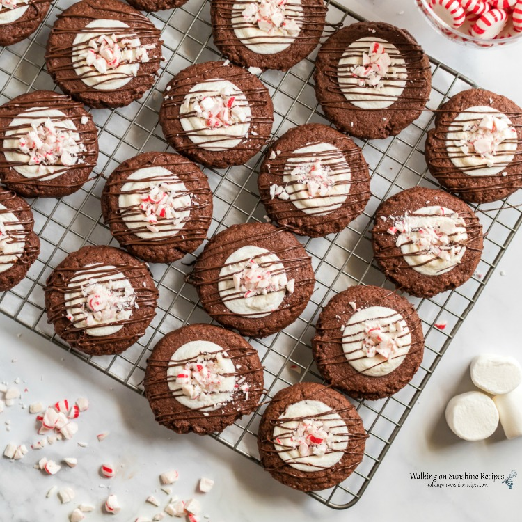 Chocolate Marshmallow Peppermint Cookies Walking On Sunshine