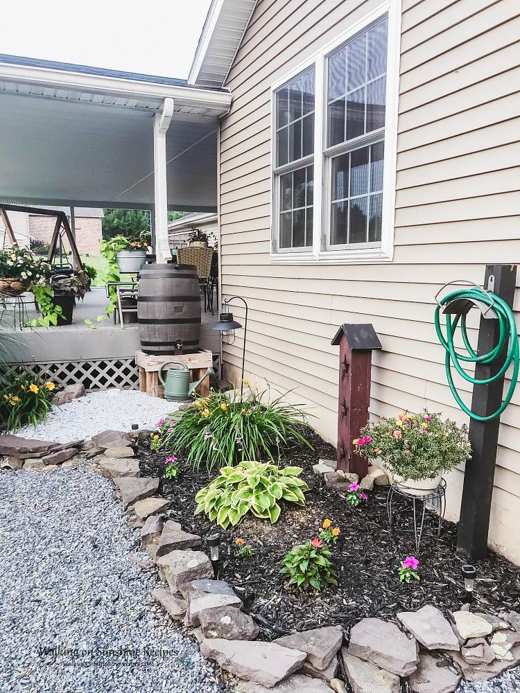 Garden Rain Barrel near back porch