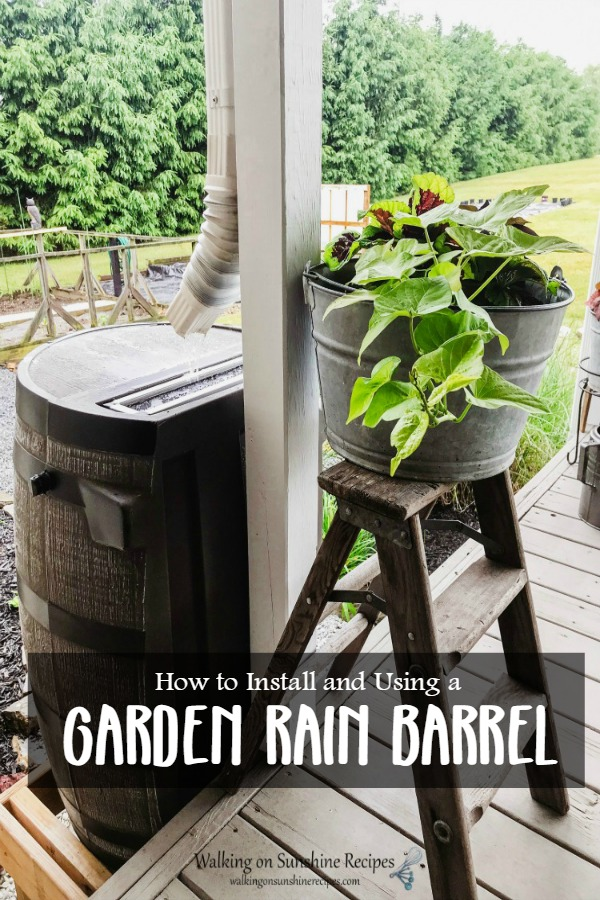 How to Install and Use a Garden Rain Barrel from WOS