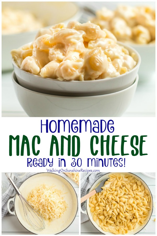 Mac and Cheese Homemade Recipe with prep photos