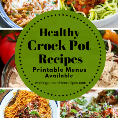 Weekly Meal Plan – Healthy Crock Pot Meals