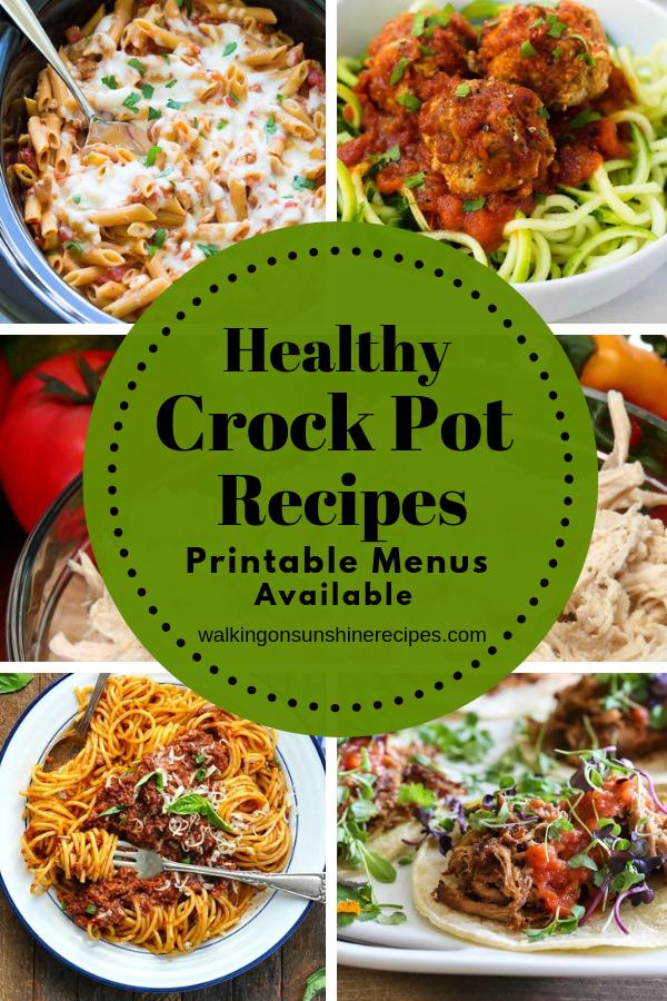 Easy healthy crock pot recipes.