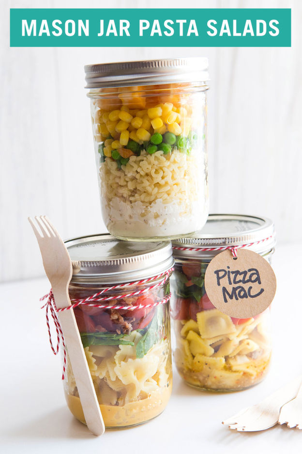 3 Back-to-School Mason Jar Lunches