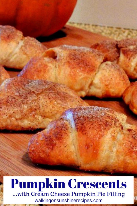 pumpkin crescent rolls