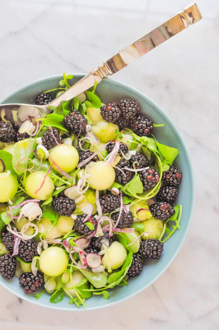 Honeydew Melon & Blackberry Salad