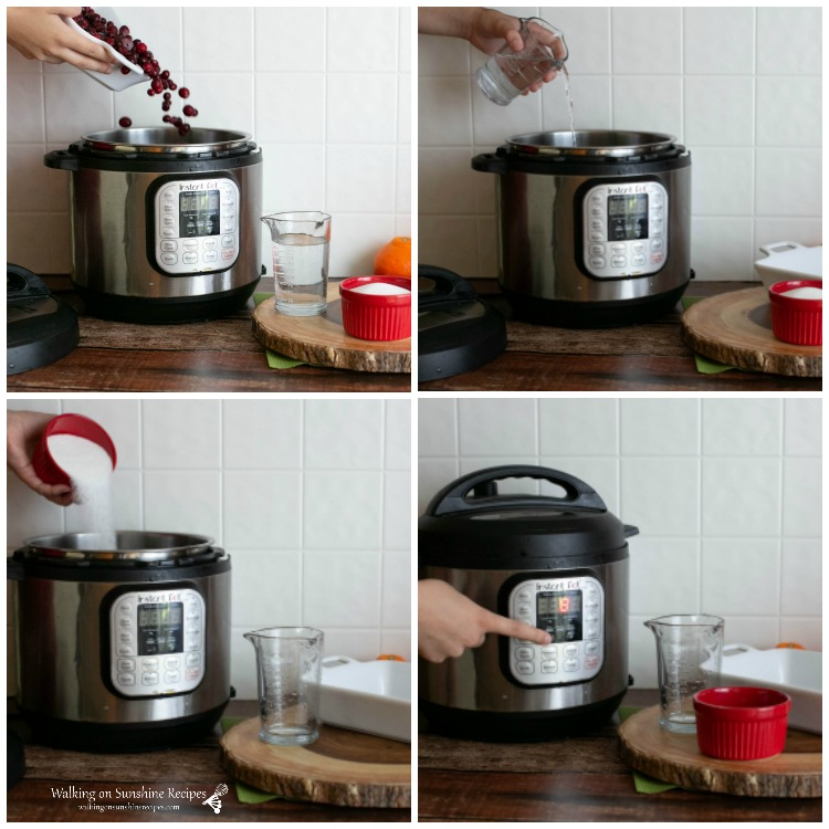 How to make cranberry sauce in an Instant Pot from WOS