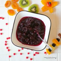 Homemade Cranberry Sauce made in the Instant Pot