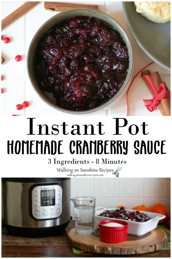 Instant Pot Homemade Cranberry Sauce