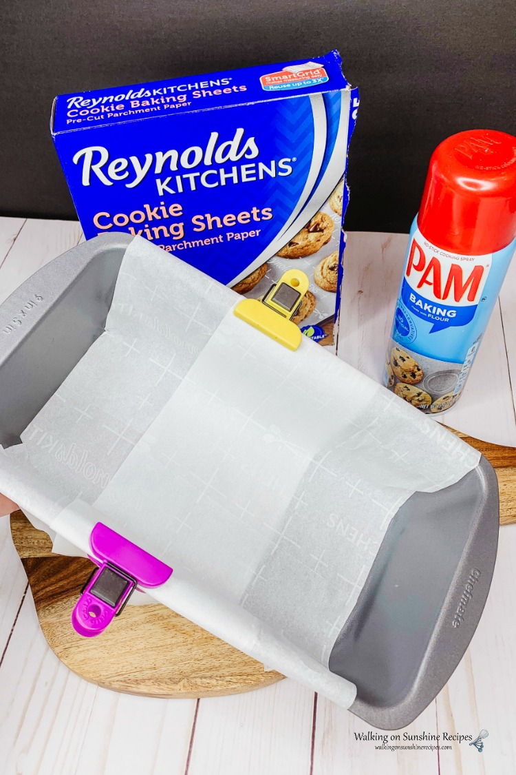 Parchment Paper in Loaf Pan for Pumpkin Bread