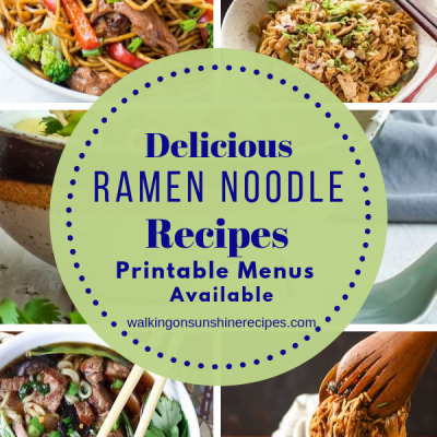 Weekly Meal Plan: Ramen Noodle Dinner Recipes