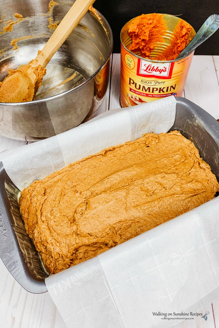 Take clips off of parchment paper for pumpkin bread with cake mix.