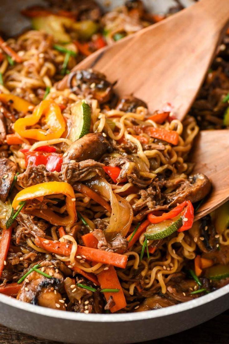 30 Minute Beef Ramen Stir Fry