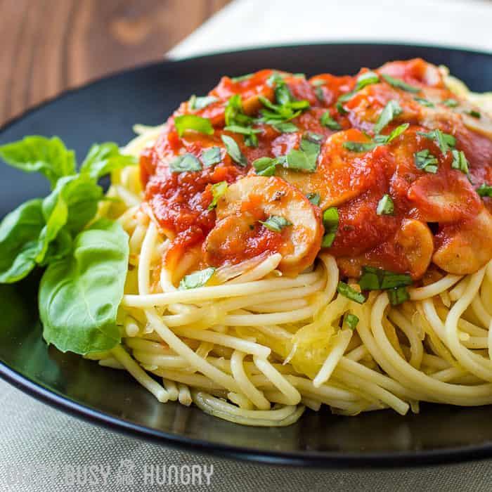 Healthier Spaghetti Dinner