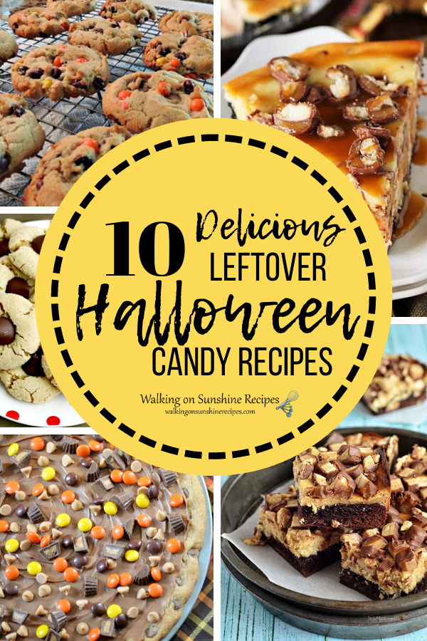 10 dessert recipes that use leftover Halloween candy.