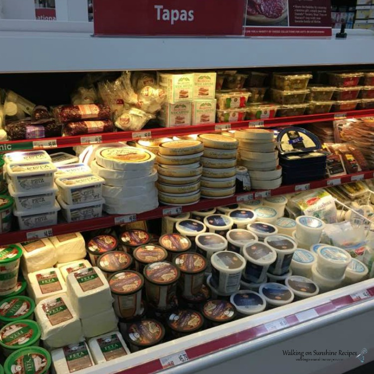 Assortment of Cheeses in Grocery Store