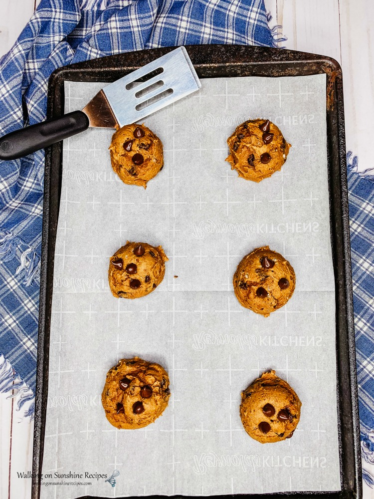 Chocolate Chip Pumpkin Cookies baked