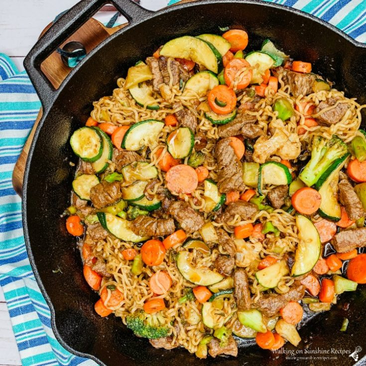 Easy Beef Ramen Stir Fry