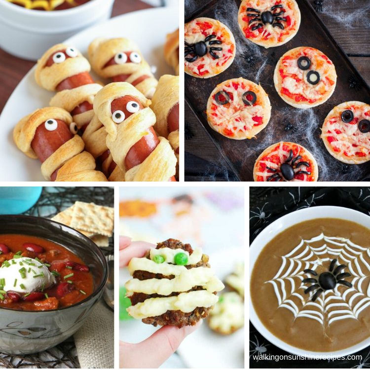 5 fun scary recipes for dinner this week.