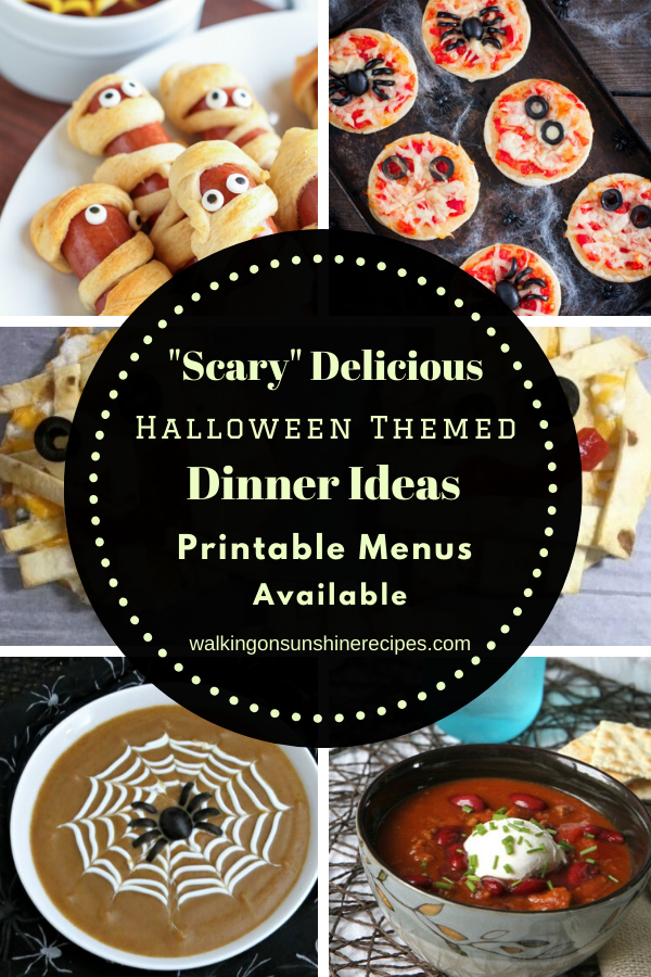 Scary delicious Halloween themed meals for our weekly meal plan.