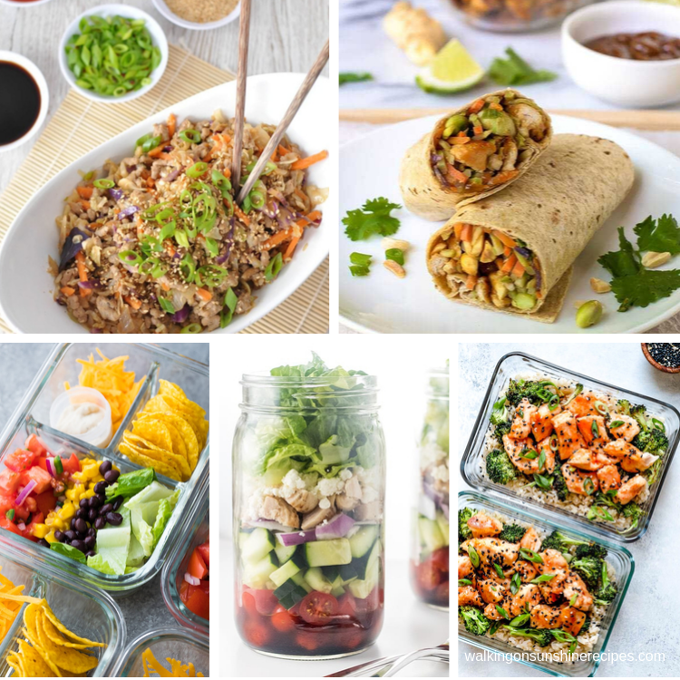 5 different portable lunches