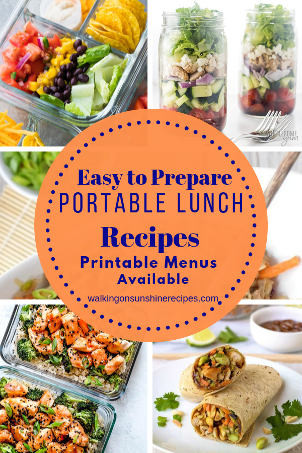 Easy to prepare portable lunches to take to work.
