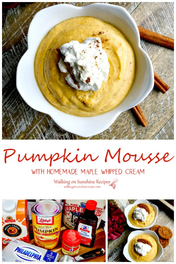 Pumpkin Mousse with ingredients.