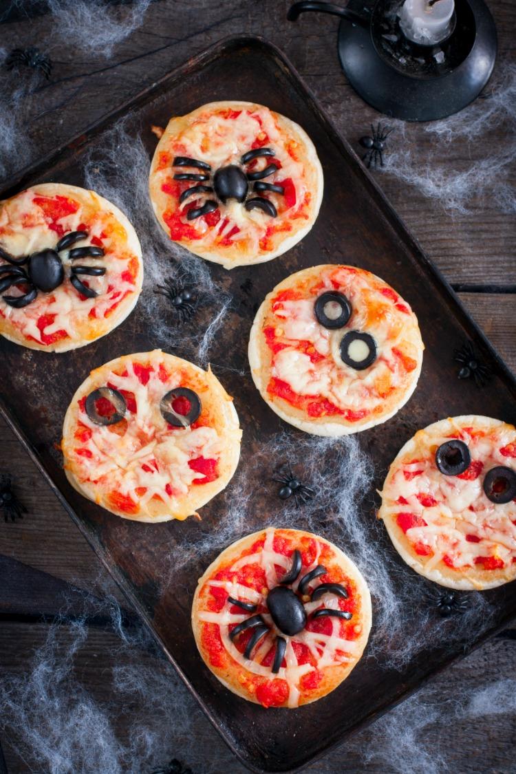 Spider Web Pizzas