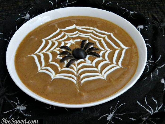 Spooky Spiderweb Soup