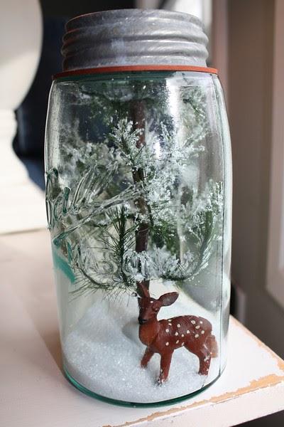 Mason Jar Snow Globes & Terrariums Tutorial
