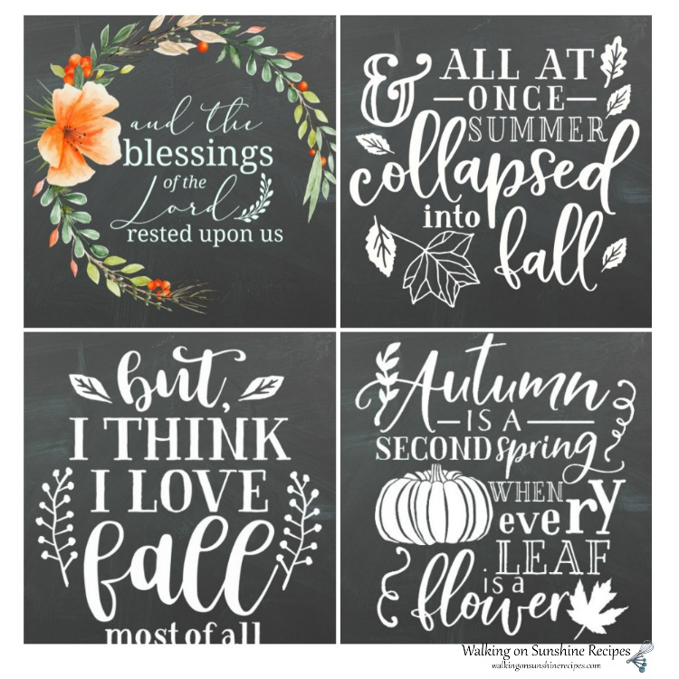 Fall Printables available from Walking on Sunshine Recipes