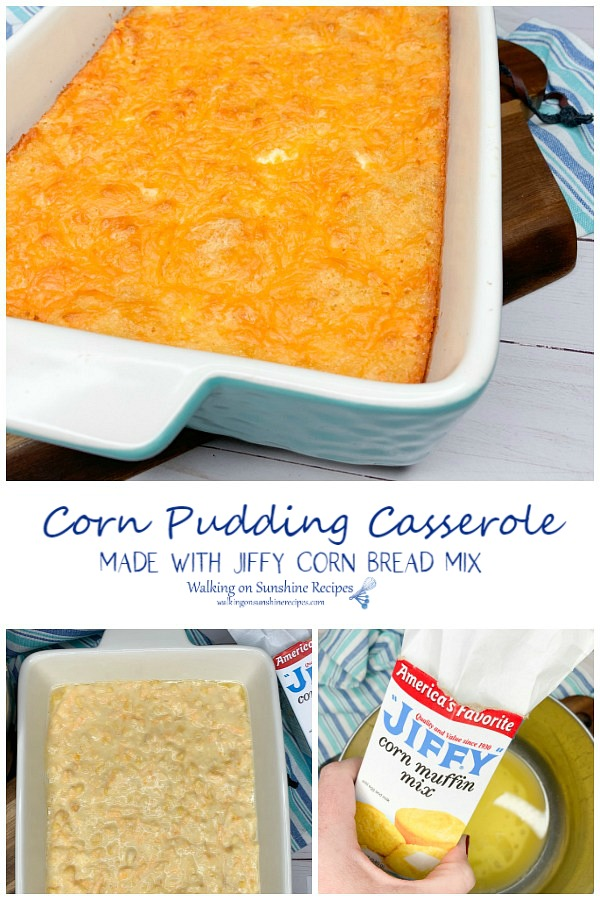 Corn Pudding Casserole with Jiffy Corn Muffin Mix