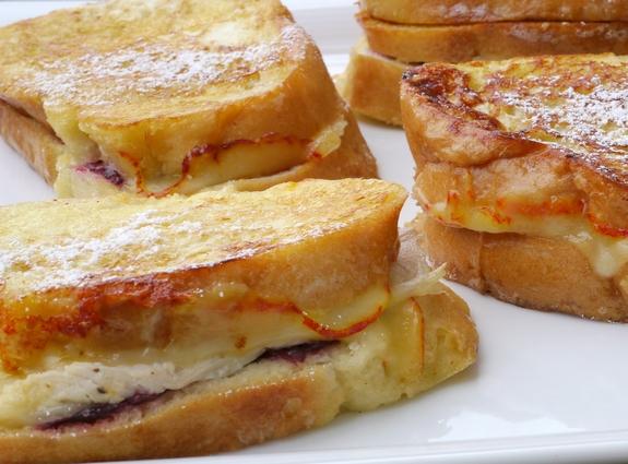 Leftover Turkey-Cranberry Monte Cristo Sandwiches