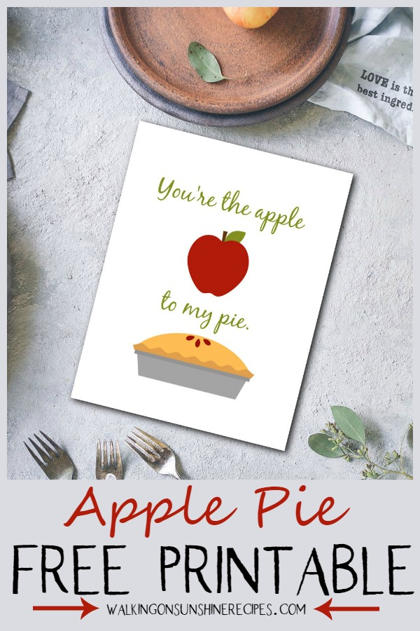 apple pie free printable