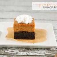 Easy Pumpkin Pie Brownie Bars