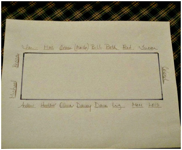 Seating Chart 2012