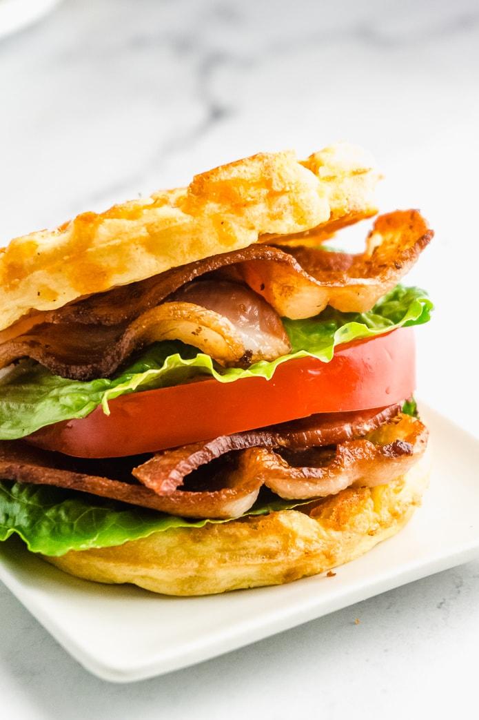 Keto BLT Chaffle Sandwich